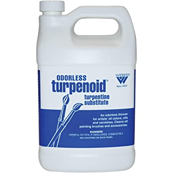 Weber Hypo-Allergenic Turpentine Substitute Turpenoid, Artist Paint Thinner and Cleaner, 1 qt, White, 32 Fl Oz