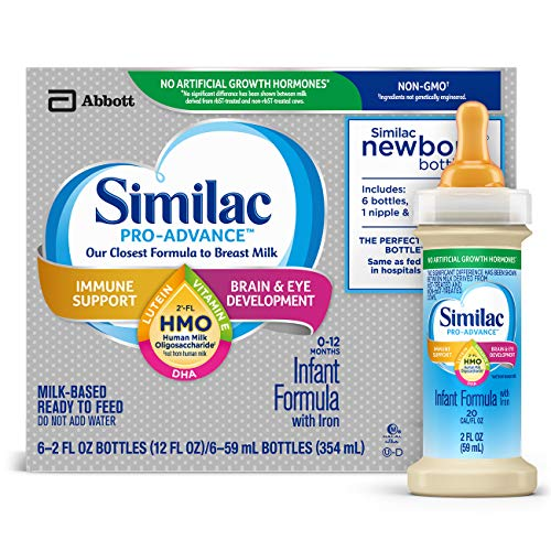 Similac Pro-Advance Infant Formula with 2'-FL HMO for Immune Support, Ready to Feed Newborn...