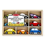 Melissa & Doug- Wooden Car Set, 13178