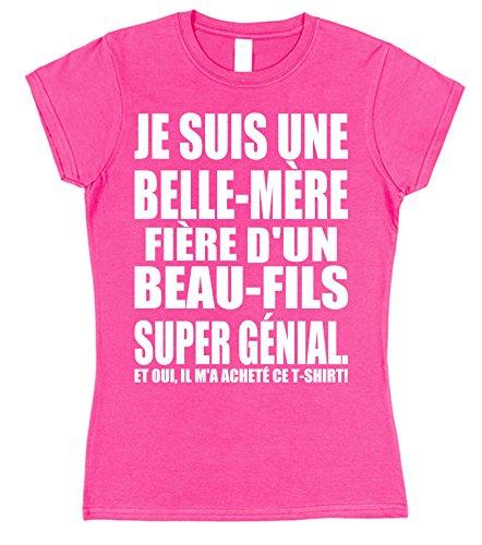 Click My Clobber Je suis Une Belle-Mère Fière d'un Beau-Fils Super Génial T-Shirt