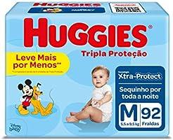Fralda Huggies Tripla Proteção M - 92 Fraldas