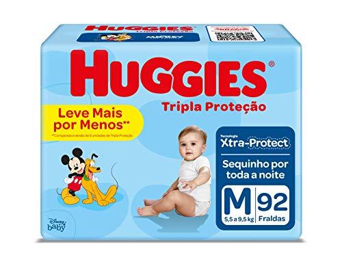Fralda Huggies Tripla Proteção, 92 Unidades