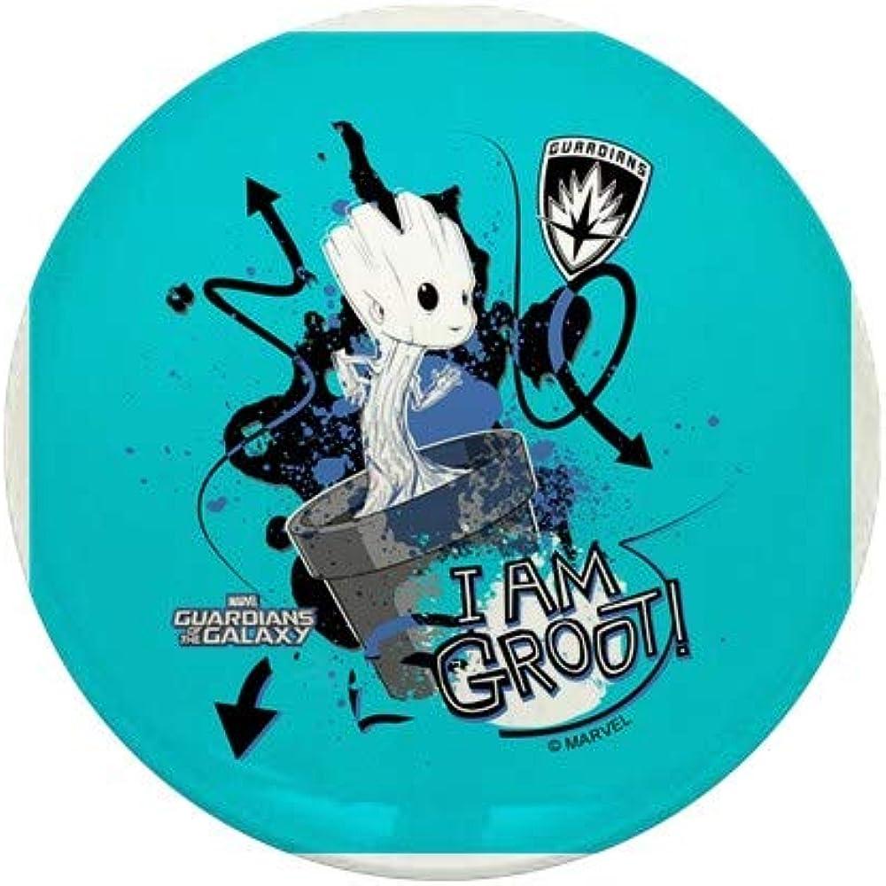 CafePress GOTG Baby I New York Mall Am Groot Button Mini Round Grunge 1