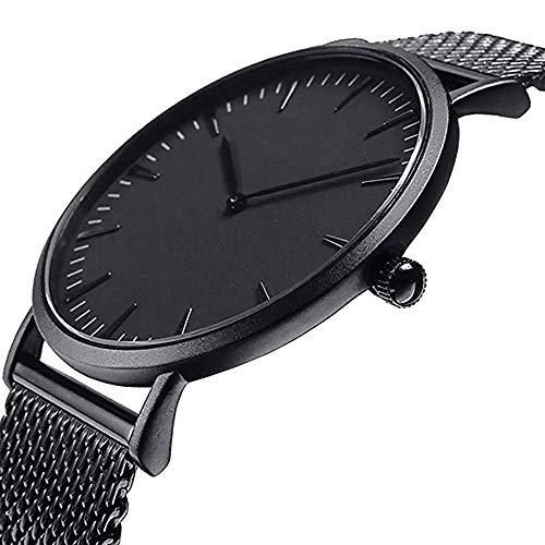QWERTYU RIIANME Mannen Vrouwen Mode Roestvrij Stalen Band Analoog Quarz Unieke stijl Wandklok Ontworpen Vrouwen Wlok Armband horloges