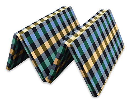 CHILLI BILLI Single Bed Folding Pure EPE Foam Mattress 4 Fold Mattress for Travel, Picnic (Mattresses 2 inch Single Bed) Multicolor ((Single Bed)(72x35x2)) - 4 FOLD