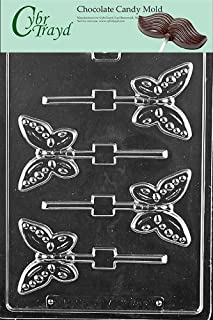 Cybrtrayd Life of the Party A134 Butterfly Lolly Chocolate Candy Mold in Sealed Protective Poly Bag Imprinted with Copyrighted Cybrtrayd Molding Instructions