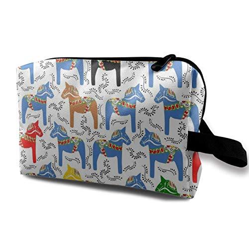 XCNGG Bolso cosmético para mujer Bolsos de aseo blandos Bolso multiusos Bolso de almacenamiento Dala Horses actualizado