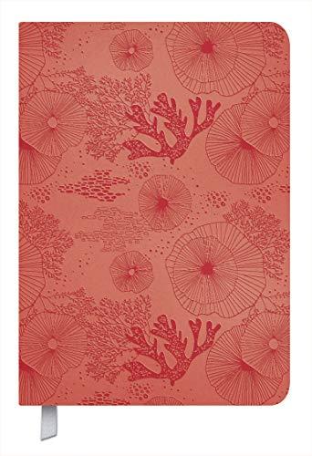 Timer Soft Touch koralle 2021: Terminplaner in Lederoptik. Terminkalender mit Wochenübersicht und Lesezeichenband. Taschenkalender im Format: 11 x 16 cm