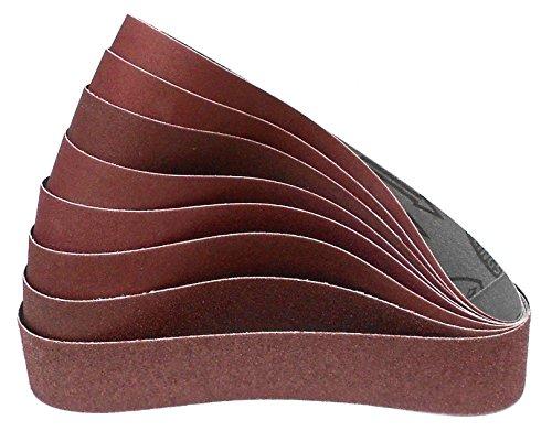Preisvergleich Produktbild Klingspor LS 307 X Schleifband / 50 x 800 mm / 8-teiliges Premium-Set / je ein Band K36,  K40,  K60,  K80,  K100,  K120,  K150,  K180