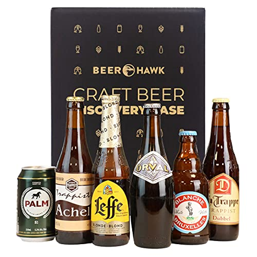 Beer Hawk Belgian & Trappist Discovery Case – 6 Beers - Belgian and Trappist Beer Gift Hamper