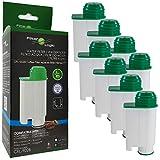 FilterLogic CFL-902B | Paquete de 8 - Filtro de agua compatible con Saeco Gaggia Philips CA6702/10 CA6702/00 CA6702 RI9113/60 Brita Intenza+ Cartucho filtrante para Máquina Cafetera de café y espresso