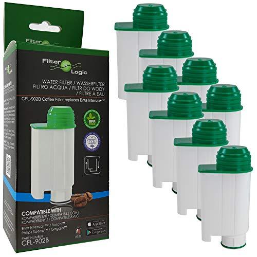 Filterlogic CFL-902B | Lot de 8 - Filtre à Eau Compatible avec Saeco Philips CA6702/10 CA6702/00 CA6702 Brita Intenza+ Cartouche filtrante pour Machine à café et Expresso Automatique