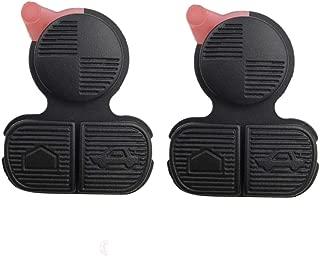 2Pcs MJKEY 3 Buttons Remote Replacement Key Rubber Button Pad for BMW Series 3 5 7 E38 E39 E36 Z3 Z4 Z8 X3 X5 Fob