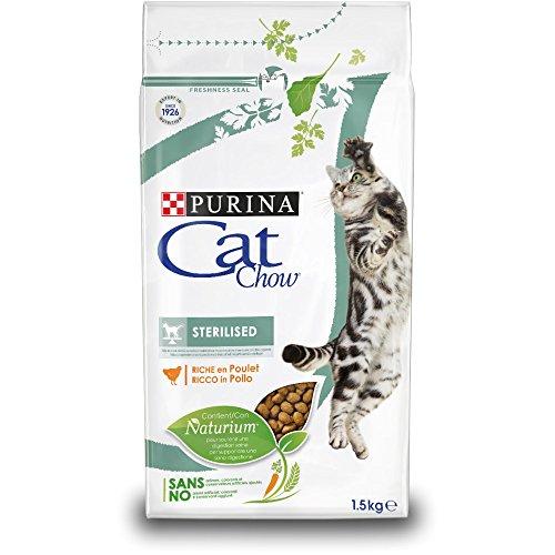 Purina Cat Chow Sterilised Corquettes pour Chat Adulte, Riche en Poulet, 1,5kg
