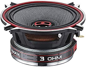 DS18 EXL-SQ4 - 4-Inch 3-OHMS High Sound Quality Speaker - Sleek Compact Design with Chrome Finish - Superior Bass Response - 260 WATTS Max - SET OF 2
