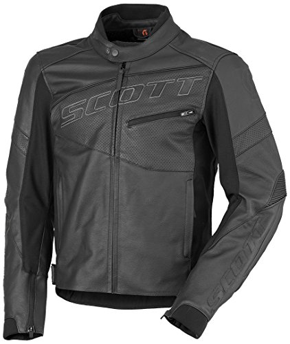 Scott Track Blouson Leder Motorrad Jacke schwarz 2019: Größe: XL (52/54)