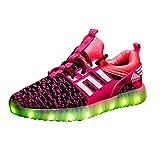 Evereap Lumineuse USB Charge Chaussures Chaussures Enfants 7 Couleurs De LED De Sports Baskets pour GarçOn Et Fille,Basket Fille Chaussure Garcon Enfant