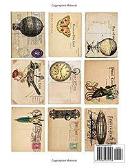 Steampunk Craft Supplies: Steampunk Ephemera | Decoupage Art Paper Book | Junk Journal Supplies Kit #1