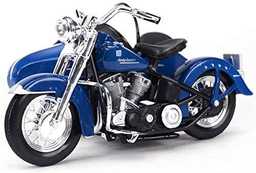 Modelo de Juguete Modelo de la Motocicleta de Tres Ruedas Harrera Joyas de simulación estática de aleación Modelo de la Motocicleta de Serie Collection Car Model Azul (Color: Azul) ZHNGHENG