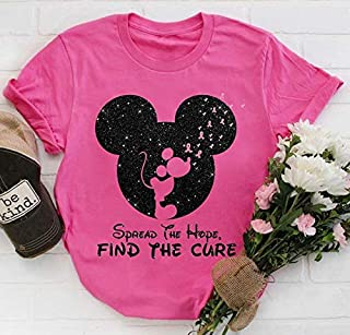 Disney Mickey Mouse Spread The Hope Find The Cure Breast Cancer Awareness.