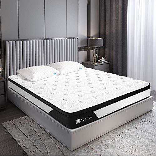 Avenco Matratze 90x200, Premium Höhe 25cm 5-Zonen Taschenfederkernmatratze, H3 Mittelfest, mit atmungsaktivem Bezug und Multischichtsystem
