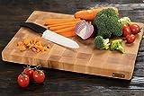 MTM WOOD Tablas de Cortar Cocina de Madera Abedul, Tablas de Picar de Tamaño Diferente y de Espesor 3 y 4 cm, Ideal para Cortar Carne Verdura Pescado Pan (40 x 30 x 3 cm)