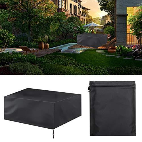 Rattan Furniture Waterproof Covers Wasserdichte Tischstaubabdeckung Tragbares 420D Oxford-Tuch für Tischstühle(242 * 162 * 100)