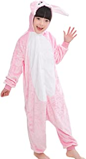 44f79a7def163 Dreamowl Unisexe Enfants Hoodie Onesie Pyjamas Chaud Flanelle Lapin Cosplay  Costumes Combinaison