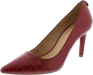 Michael Michael Kors Dorothy Croc Embossed Leather Flex Pump 9.5 Scarlet