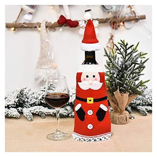 WanXingY Borsa for Bottiglia di Vino Rosso Borsa, Tavola di Natale Bottiglia di Vino Decorazione Regalo Party Family Party Santa Claus Decorazione (Colore : B)