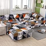 FENFANGAN Fundas Sofa elasticas, Fundas Sofas Ajustables, para Sala de Estar Funda para sofá Chaise Longue, Todo Incluido, Adecuado para la mayoría de los sofás (color15,3 Seater + 4 Seater)