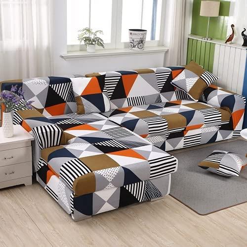 FENFANGAN Fundas Sofa elasticas, Fundas Sofas Ajustables, para Sala de Estar Funda para sofá Chaise Longue, Todo Incluido, Adecuado para la mayoría de los sofás (color15,3 Seater + 3 Seater)