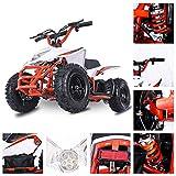 Fit Right 2020 Titan Kids 24V Mini Quad ATV, Dirt Motor Electric Four Wheeler Parental Speed Control, with 350W Motor Power Reserve, Large Tires & Wide Suspension (Orange)