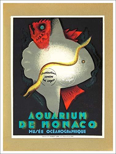 Herbé TM Aquarium Monaco Rcvj Poster/Reproduktion 50 x 70 cm (auf Papier 60 x 80 cm) d1 Poster Vintage/Antik/Retro