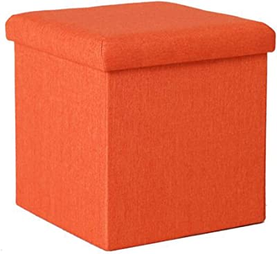 JiatuA Foldable Storage Ottoman Square Cube Foot Rest Stool//Seat Folding Seat Bench /& Footrest Linen Fabric Ottomans Bench Coffee Table Puppy Step for Bedroom Entrance jiatushuma Living Room