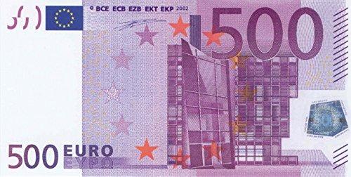 Litfax 500€ Euroschein / Euro-Geldscheine 203x103 mm / banderoliert, je Pack. 75 Stück