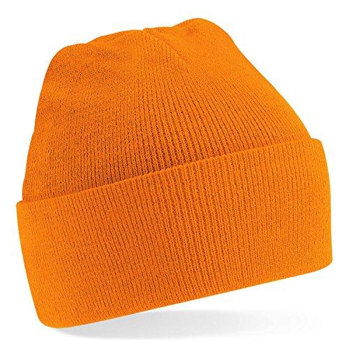 Beechfield, Acryl-Strickmütze für Erwachsene, zum Aufschlagen, Unisex Gr. Einheitsgröße, Orange