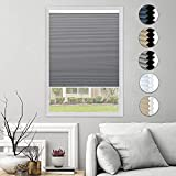 HOMEDEMO Blackout Cellular Shades Cordless Window Blinds and Room Darkening Shades, 27' W x 64' H, Dark Gray (UV Blocking & Privacy Protection)