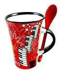 Little Snoring Gifts: Cappuccino Mug With Spoon ? Violin (Black)
