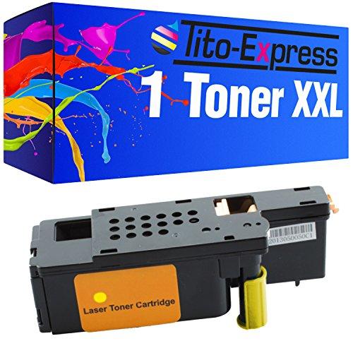Tito-Express PlatinumSerie 1x Toner-Kartusche XXL Yellow für Dell C1660 C1660w