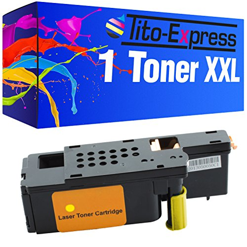 Tito-Express Platinum Series 1 Toner Yellow compatible with Dell 1250 1250C 1350 CNW 1350CNW 1355 CN 1355CN 1355CNW C-1760 C-1760NW C-1765 C-1765NF C-1765NFW