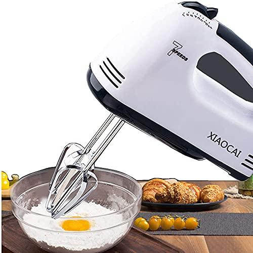 Elektrischer Handmixer, Elektrischer Handkuchen-Schneebesen-Mini-Eiercreme-Schläger mit 7 Geschwindigkeiten zum Backen von Keksen, Kuchen, Teig, Teigen und mehr.