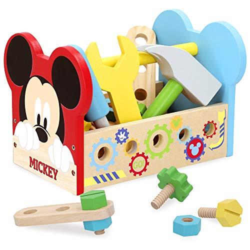 Disney - Maletin herramientas 24 piezas Caja herramientas Juguetes Bricolaje Construccion - Juguetes niños 3 años Juguetes educativos Juego Imitación infantil Juguetes Disney