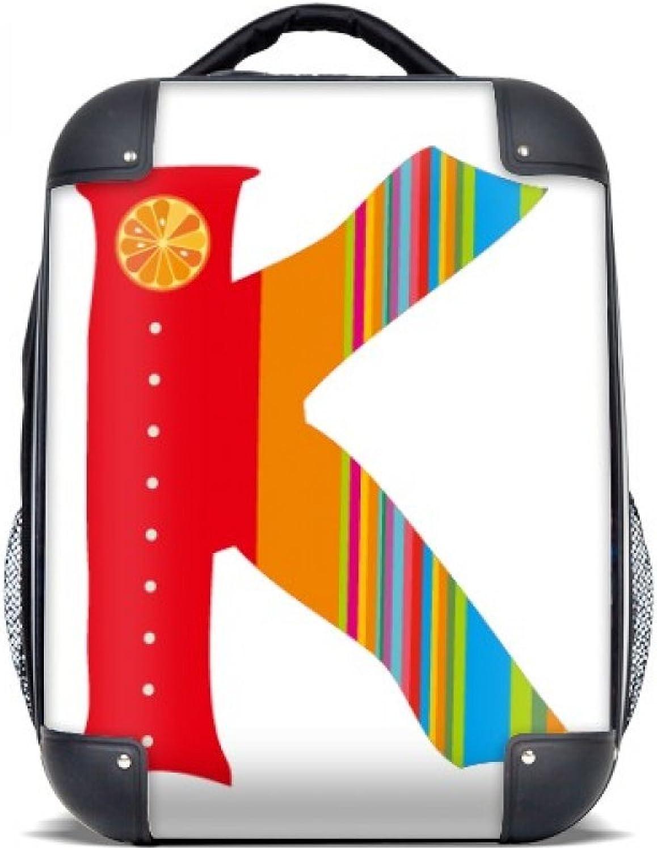 DIYthinker K Alphabet Orange Frucht Nette Muster-Harter Fall Schulter Kind-Rucksack-Geschenk 15