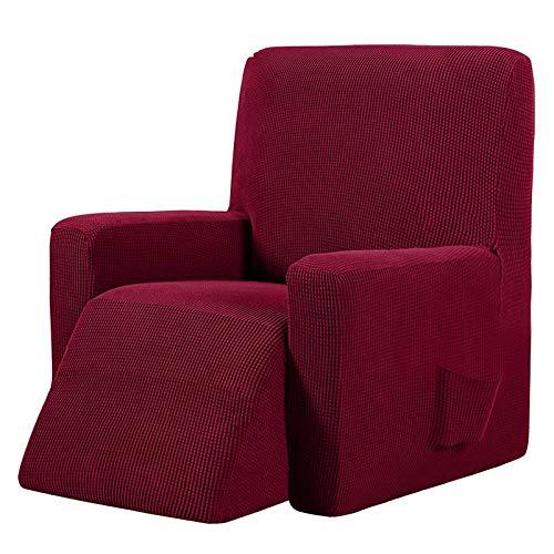 YRRA Wasserdicht Sofabezug, Super weich Jacquard Stricken Couchbezug Waschbar Sofa Schutzhülle, für Wohnzimmer Hund Haustier Möbel Protector,Wine red