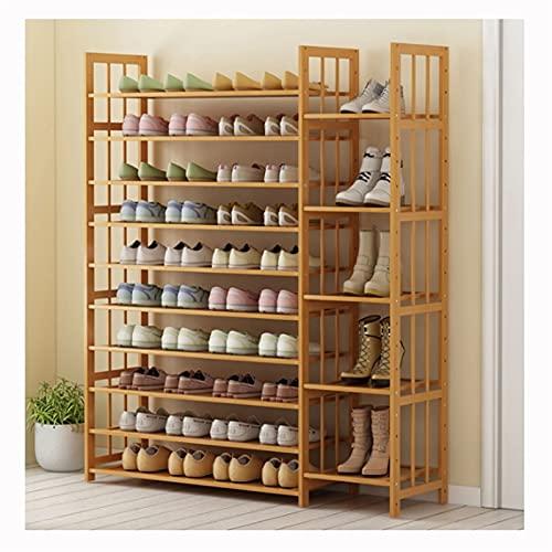 10/11 gráficos de zapatos de 10/11 gráficos de zapatos, equipo de almacenamiento de zapatos, estante de zapatos de madera, estante de la torre de zapatos multifuncionales para la sala de estar de entr