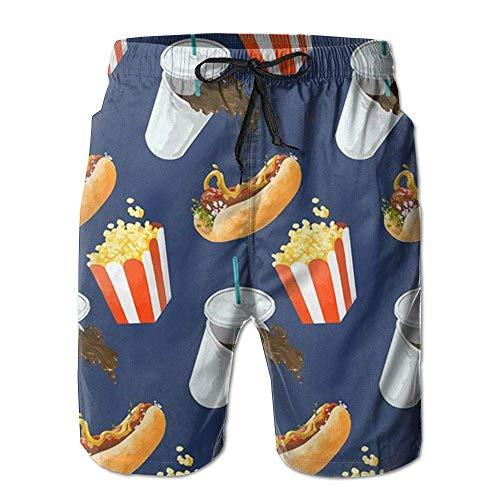 Sunny R Pantalones Cortos de Playa de Secado rápido para Hombre de Fruta de la pasión, bañadores de Verano, Talla XL