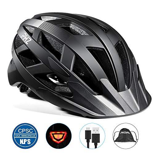 PHZING Fietshelm CE gecertificeerde verstelbare volwassen helm met afneembaar vizier voor fiets racefiets BMX rijden