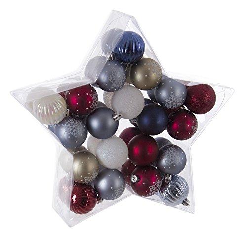 Féérie Lights & Christmas Kit déco pour Sapin de Noël - 40 Pièces - Violet, Gris et Blanc
