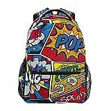 MyDaily Schulrucksäcke Retro Pop Art Comic Laptop Tasche Frauen Casual Daypack Jungen Mädchen Bookbag